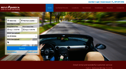 rentawreck.com - cheap car rental deals  rental cars from rent-a-wreck  30 years of great cars, great service!