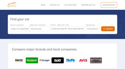 rentcarla.com - carla - rent a car from avis, hertz, enterprise, dollar, keddy. car rental app