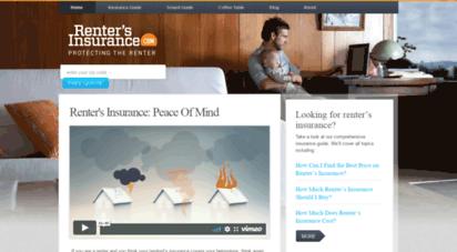 rentersinsurance.com - renters insurance  protecting the renter