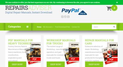 repairsadviser.com - a wide range of service, parts and repair manuals in pdf