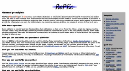 repec.org - repec: research papers in economics