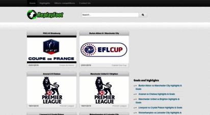 replayfoot.com - replayfoot - football highlights and goals