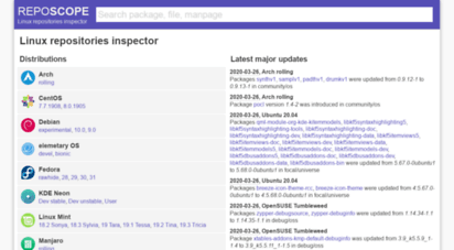 reposcope.com - linux repositories inspector