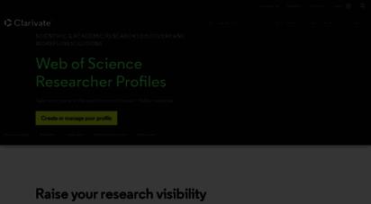 researcherid.com - web of science researcherid  publons