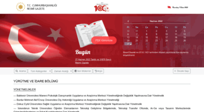 resmigazete.gov.tr - t.c. resmî gazete
