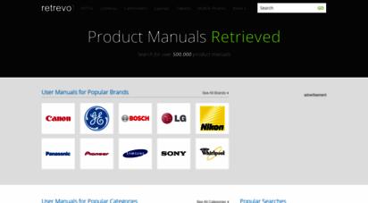retrevo.com - retrevo  search for over 500,000 product manuals