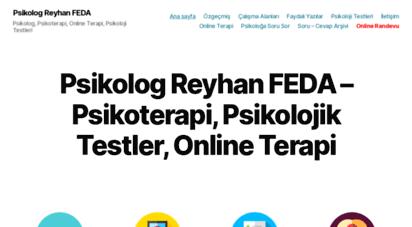 reyhanfeda.com - psikoterapi, online terapi, psikolojik testler - anasayfa - psikolog reyhan feda