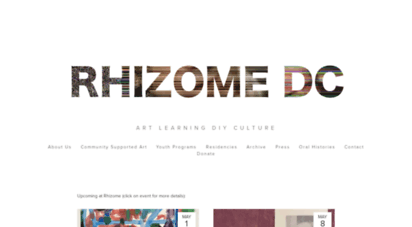 rhizomedc.org - rhizome dc
