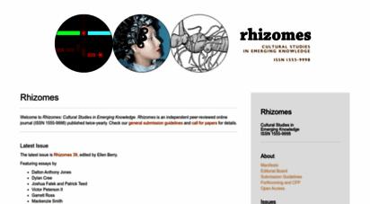 rhizomes.net - rhizomes: cultural studies in emerging knowledge