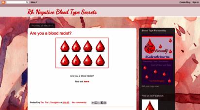 Welcome to Rhnegativebloodsecrets blogspot se - Rh Negative