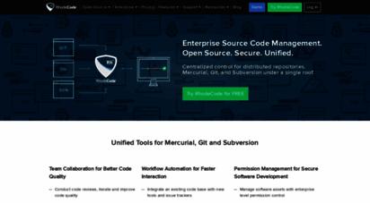 rhodecode.com - rhodecode › enterprise code management for hg, git, svn