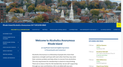 rhodeisland-aa.org - alcoholics anonymous in rhode island  serving rhode island and neighboring sections in massachusetts and connecticut