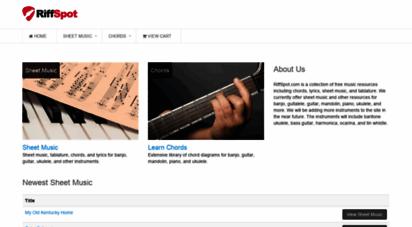 riffspot.com - free sheet music, tablature, chords, and lyrics at riffspot.com
