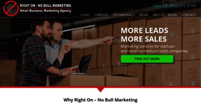 righton-nobull.com - right on - no bull marketing