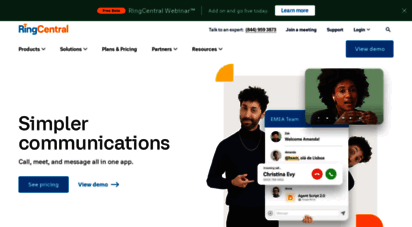 ringcentral.com - message. video. phone.  ringcentral