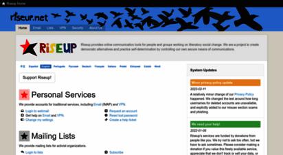 riseup.net - home - help.riseup.net