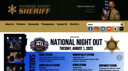 riversidesheriff.org - :: sheriff-coroner :: riverside county, california