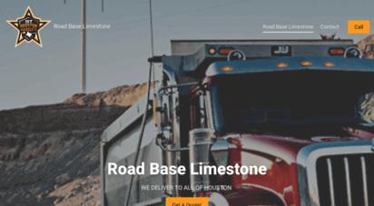 roadbaselimestone.com - road base limestone houston - dump truck and crushed concrete delivery - dump truck service