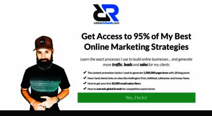 robbierichards.com - robbie richards  actionable online marketing strategies