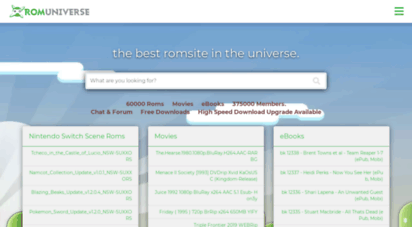 Welcome to Romuniverse com - GBA Roms, 3DS Roms, NDS Roms