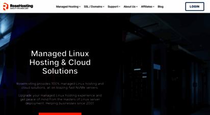 rosehosting.com - managed vps  best managed linux cloud hosting - rosehosting