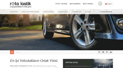 rotalastik.com.tr - rota lastik ve hizmetleri tic. a.ş - lastik ve akü toptan satış
