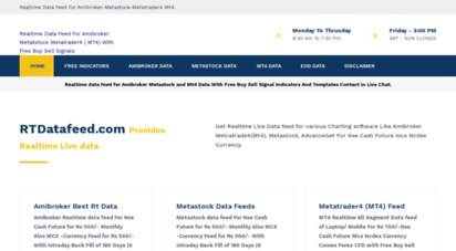 Welcome to Rtdatafeed com - Realtime data for Amibroker Metastock