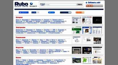 rubo.ru - каталог сайтов, рейтинг, скриншоты, добавить сайт. - все страны