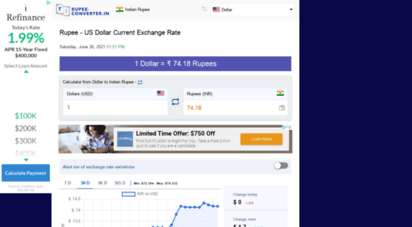 rupee-converter.in - indian rupee inr to dollar usd currency converter