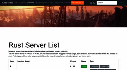 rust-servers.net - rust server list  rust multiplayer servers