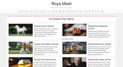 ruyameali.com - rüya tabirleri - rüya meali