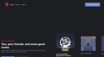 rythmbot.co - rythm - the best free discord music bot