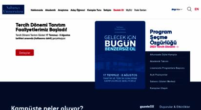 sabanciuniv.edu - sabancı üniversitesi