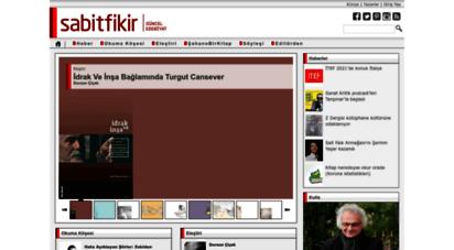 sabitfikir.com - ana sayfa  www.sabitfikir.com