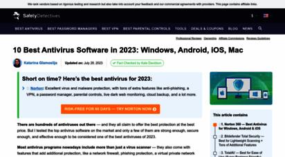 safetydetectives.com - 10 best antivirus software 2020: windows, android, ios & mac