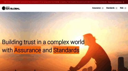 saiglobal.com - sai global, the compliance and risk experts