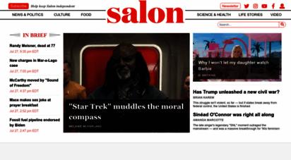 salon.com - salon.com  news, politics, business, technology & culture