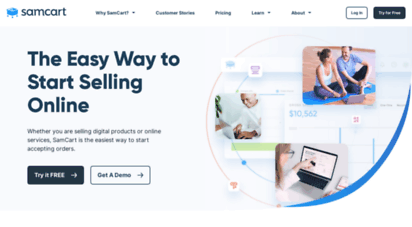 samcart.com - samcart  the simple way to sell online