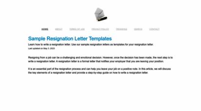 sample-resignation-letters.com -