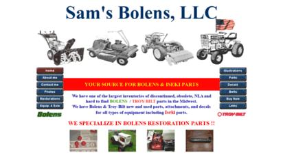 Welcome to Samsbolens com - Sam's Bolens