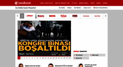 sanalbasin.com - son dakika gazete manşetleri - sanl basin