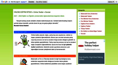 sanalokulumuz.com - online eğitim sitesi » testler » sorular