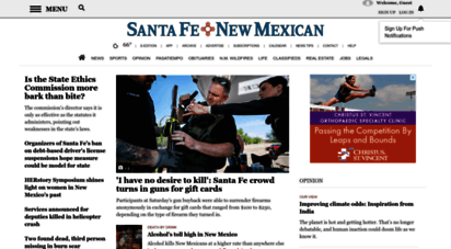santafenewmexican.com - santa fe new mexican homepage  news, opinion and sports from santa fe and northern new mexico