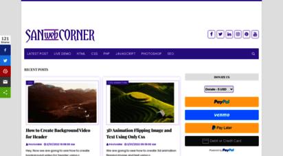 sanwebcorner.com - sanwebcorner  programming blog