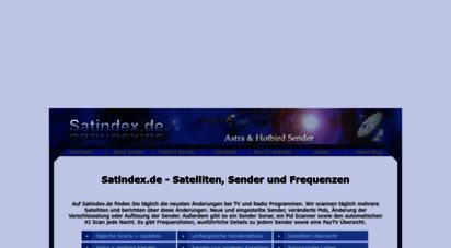 satindex.de - satindex.de - astra und hotbird sender  frequenzen