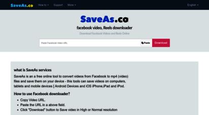 saveas.co - facebook video downloader - download facebook videos online