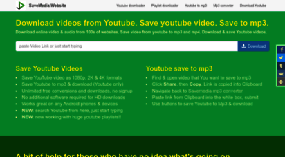 savemedia.website - save youtube video. save video from youtube to mp3 & mp4.