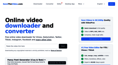 savethevideo.com - online video downloader and converter updated 2020