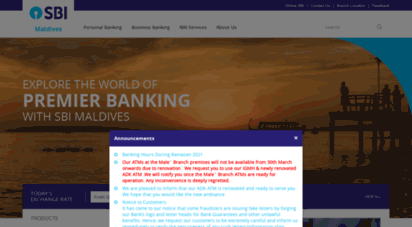 sbimaldives.com - state bank of india, maldives