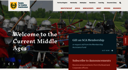 sca.org - society for creative anaonism